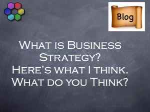 What is Business Strategy - here's what I think, what do you think?