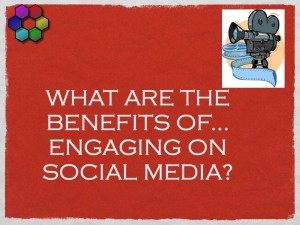 What are the benefits of engaging on social media